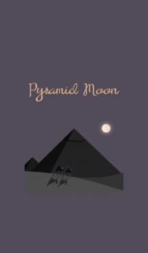 ピラミッドと月 + 紫色 画像(1)