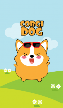 Lovely Fat Corgi Dog Theme (jp) 画像(1)