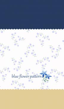 blue flower pattern 2 画像(1)