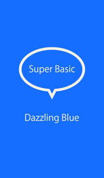 Super Basic Dazzling Blue
