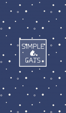 SIMPLE CATS【navy blue】