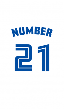 Number 21 White x blue version