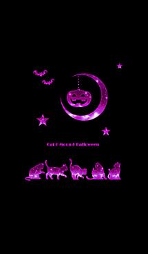猫と月とハロウィン2019 黒ピンクVer.