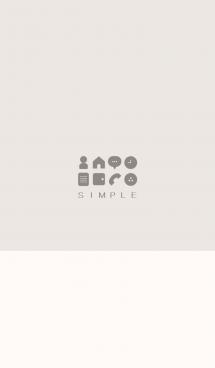 シンプル(beige ivory)V.330