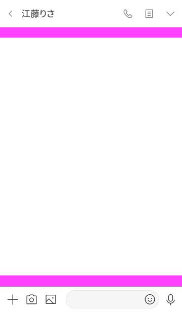 シンプル ホワイト&ピンク No.4の画像(トーク画面)