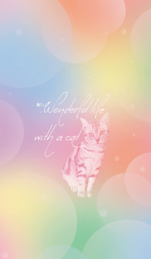 Rainbow and Cat #イラスト