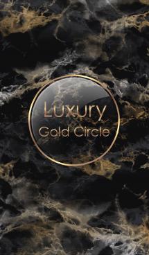Luxury Gold Circle #Black