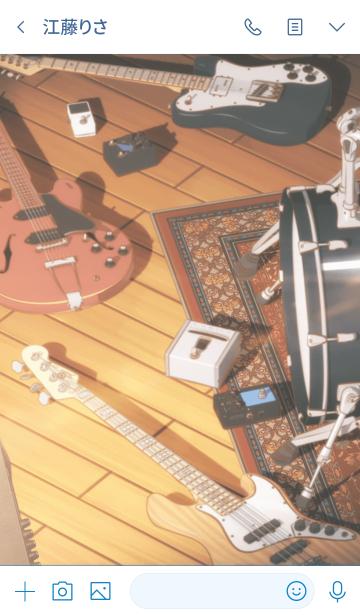 TVアニメ『ギヴン』着せかえの画像(トーク画面)
