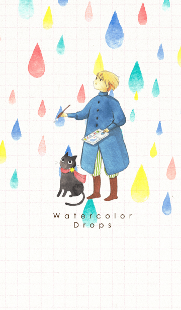 Watercolor Drops #水彩タッチの画像(表紙)