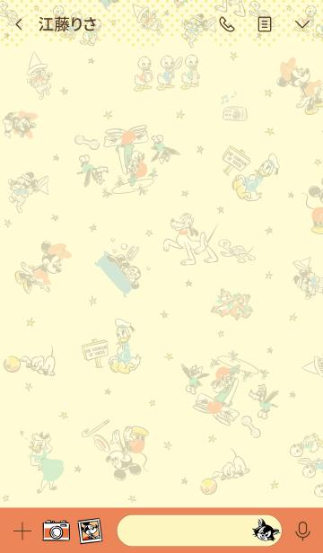 ミッキー&フレンズ(レトロポップ)の画像(トーク画面)