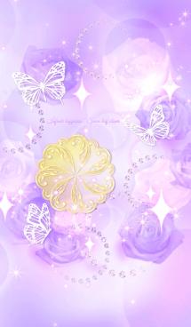 無限の幸福❤︎7つ葉クローバー&蝶々 画像(1)