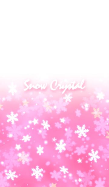 可愛いピンクの雪の結晶♥️の画像(表紙)
