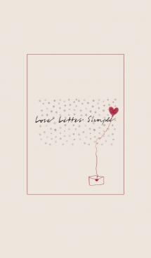 Love Letter Simple -beige-