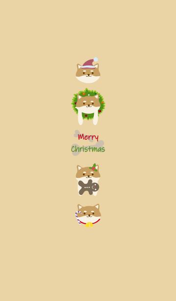 [LINE着せかえ] 柴犬犬クリスマスの画像