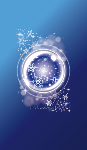 [LINE着せかえ] ♥Crystal Snow Dome♥ #2020の画像