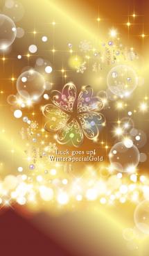 超運気UP!幸運5つ葉クローバー黄金#新年 画像(1)