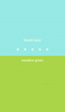Simple basic メドウ グリーン 画像(1)