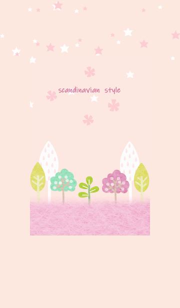 キュートな北欧のピンクの森の画像(表紙)