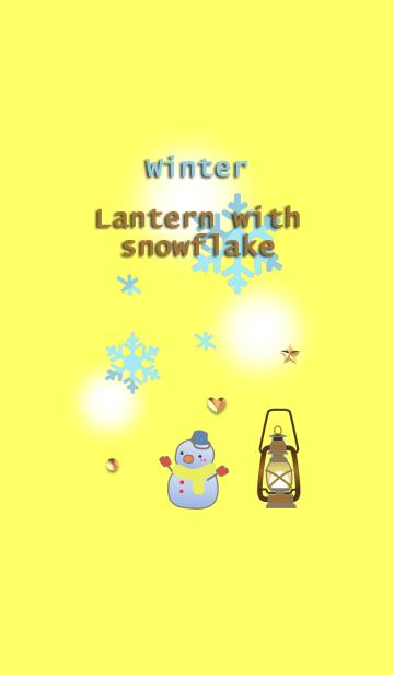 冬(雪の結晶とランタン )の画像(表紙)