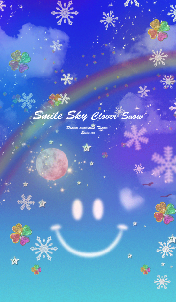 [LINE着せかえ] 運気UP Smile Sky Strawberry moon Snowの画像