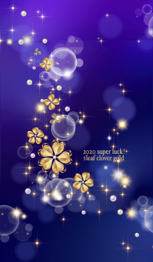 2020年超運気アップ!5つ葉クローバー青紫 画像(1)