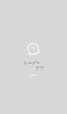 シンプル ゆるグレー mo