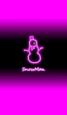 ネオン スノーマン:ピンク
