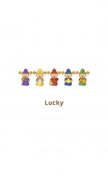 5色のラッキーリトルフォーチュン