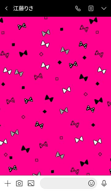CUTE RIBBON PINK&BLACK 2の画像(トーク画面)