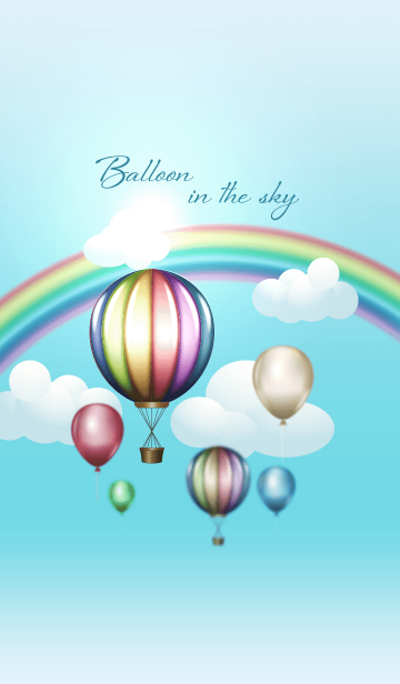 Hot Air Balloon in the skyの画像(表紙)