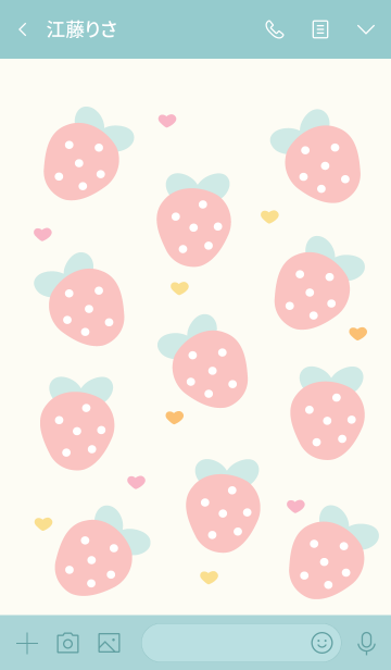 Sweet strawberry 9 ^^の画像(トーク画面)