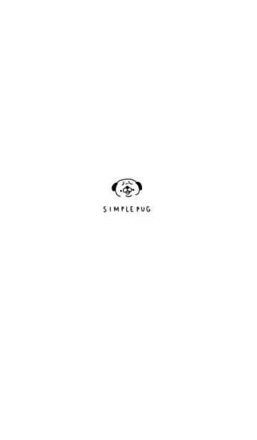 シンプルなパグの画像(表紙)