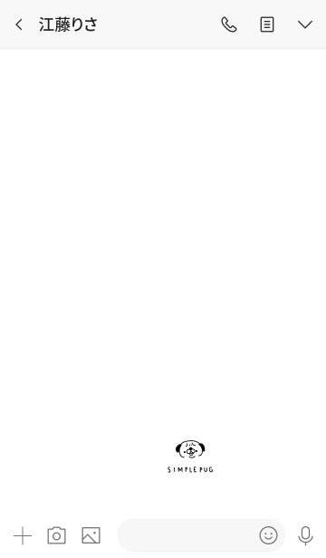 シンプルなパグの画像(トーク画面)