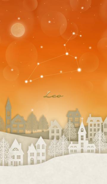 しし座と北欧風星空の画像(表紙)
