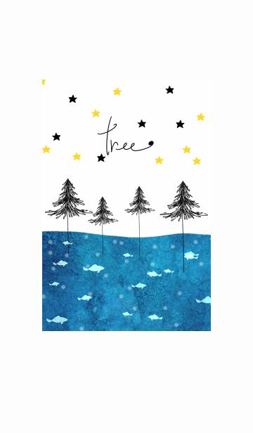 [LINE着せかえ] 海の中の木の画像