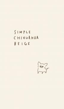 シンプル チワワ ベージュ