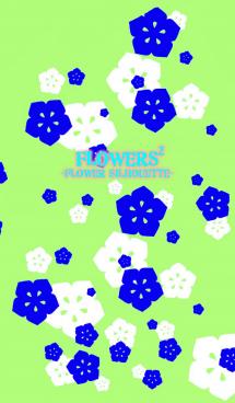 FLOWERS2-Flower silhouette-Mint Green 画像(1)