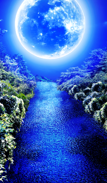 [LINE着せかえ] 青い月の森の画像