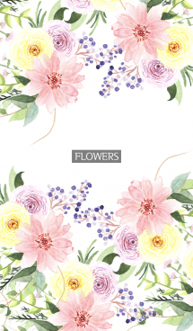 water color flowers_1131 画像(1)