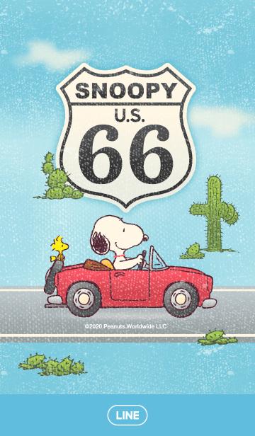 [LINE着せかえ] スヌーピー~ドライブ~の画像