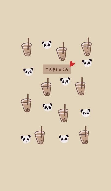 [LINE着せかえ] キュート・タピオカ・パンダ・ミルクティーの画像