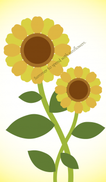 Summer to spend with sunflowers. 画像(1)