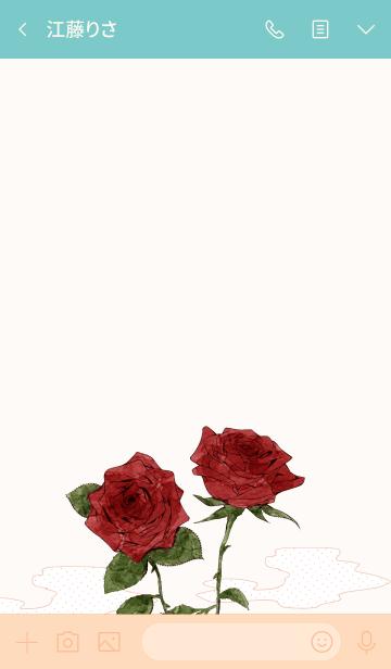 誕生月花 6月:バラの画像(トーク画面)