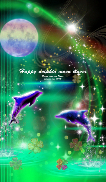運気上昇 Happy dolphin moon clover greenの画像(表紙)