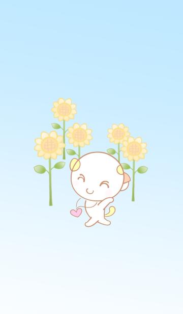 福猫のひまわりちゃん♡向日葵の画像(表紙)