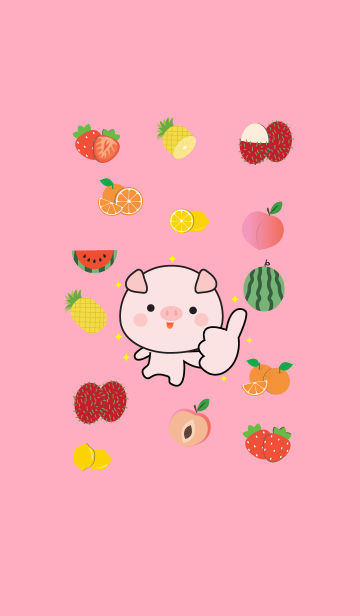 Cute Pig And Fruit (jp)の画像(表紙)