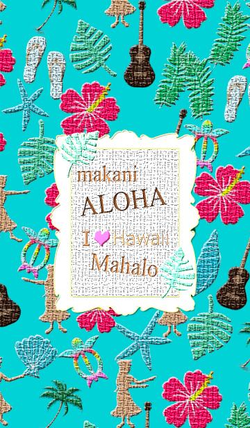 [LINE着せかえ] ++刺繍++アイ★ラブ★ハワイ #4の画像